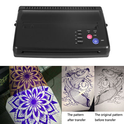 Tattoo Transfer Stencil Machine Thermique Copieur Printer Flash Hectograph Paper