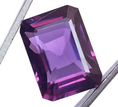 18.40 Ct Natural Alexandrite Color Changing GGL Certified Emerald Cut Gem Stone