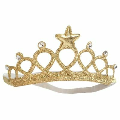Kids Girl Baby Toddler Crown Headband Hair Band Accessories Headwear Gold