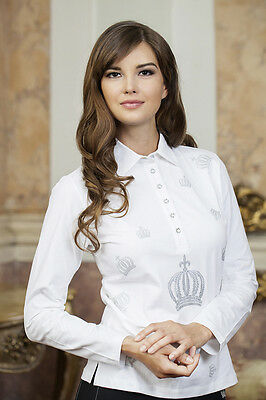 Long-Sleeved Polo Shirt-SILVER CROWN - Gloockler by HKM
