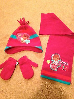 Girls hat, mittens and scarf 1-3 years