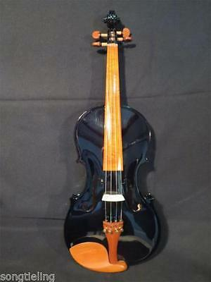 Solid wood Beautiful Black colors electric & acoustic viola 15""