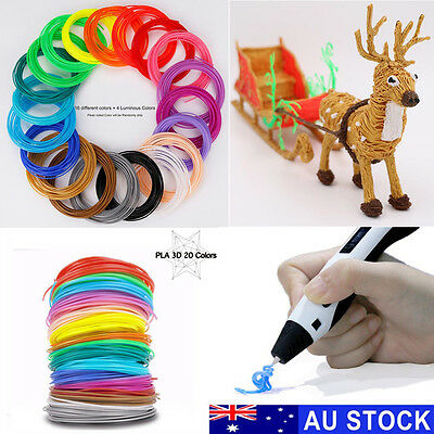 20 Colours 1.75mm Printing Filament PLA Modeling For 3D Printer Pen Drawing Toys