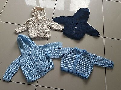 baby hand knitted cardigan bundle