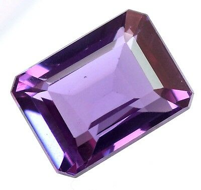 17.40 Ct Natural Alexandrite Color Changing GGL Certified Emerald Cut Gem Stone