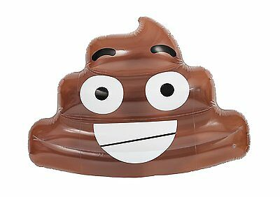 NPW Extra Large Novelty Inflatable Lilo Lounger - Giant Poo Pool Float By Pop