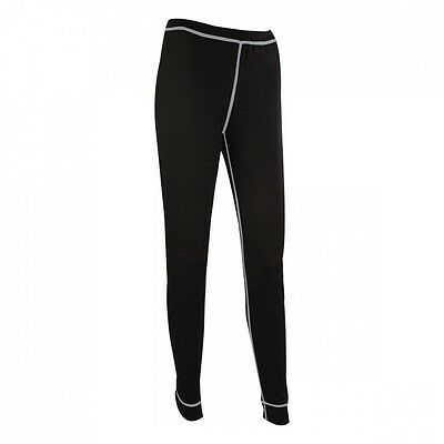 Highlander Women's Thermo 160 Leggings Baselayer Thermals Trousers - Dark Grey (