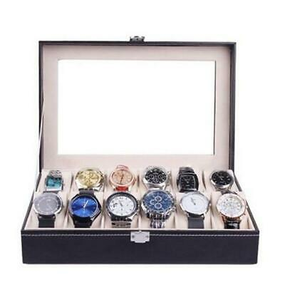 1/6/10 Grids Watch Display Case PU Leather Jewelry Storage Box Organizer New LA