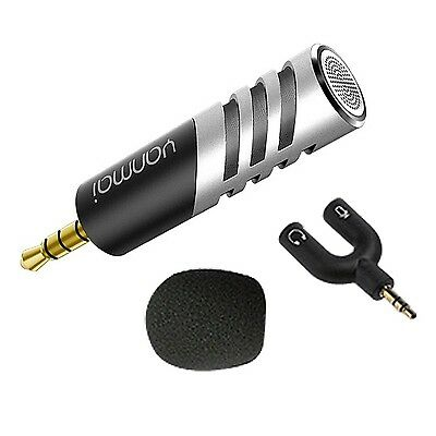 3.5mm Professional Mini Condenser Sound Podcast Microphone For Mobile PC Lapt...