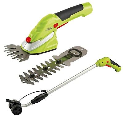 Cordless Trimming Shears 7.2v Handle Hedge Grass Edging Tool Set NEW Garden Gear