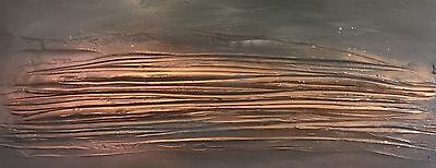 Contemporary Canvas Art. Original Textured Abstract painting. Grey/Copper