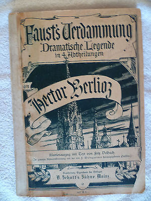 FAUST'S Verdammung pour piano et chant Hector Berlioz vers 1911