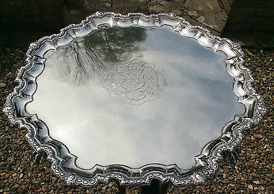 George II Sterling Silver Salver Made In London 1742‏ By Peter Taylor