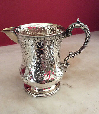 Victorian Solid Silver Jug Made By Thomas Prime & Son In 1868