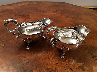 A Pair of George II Gravy Boats Made London circa 1753