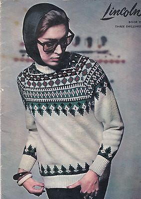 Vintage Lincoln Book 25 - ladies / mens knitting pattern
