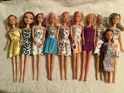 Bulk Lot Of 10 Dolls VGC New Dresses