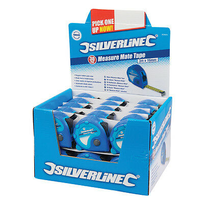Silverline 633625 Measure Mate Tape Display Box 30pce 3m x 16mm
