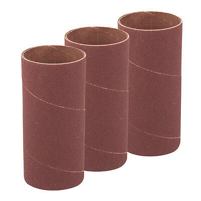 Silverline 277545 140mm Bobbin Sleeves 3pk 51mm 60 Grit
