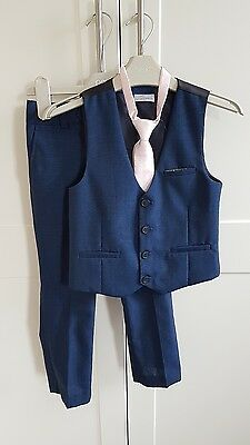boys NEXT SIGNATURE suit blue occasion wedding waistcoat set age 5 years