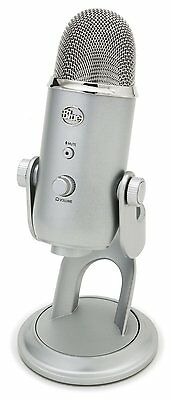 Blue Microphones Yeti USB Microphone Stereo Mic PC MAC with Desktop Stand Silver