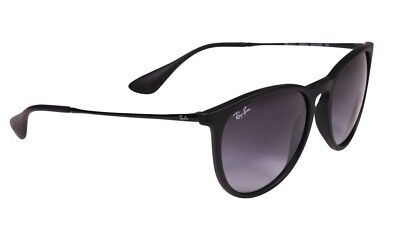 Ray-Ban Sunglasses Women Gradient Erika RB4171-622/8G-54 Black Round *NEW & ORG*
