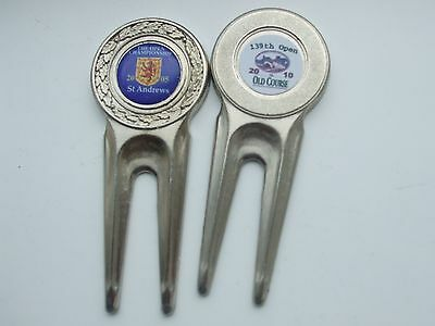 2 Divot Repair Tools 2005 & 2010 Open ST ANDREWS