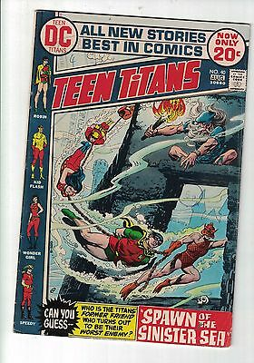 DC COMIC Teen Titans no 40 Aug 1972  20c