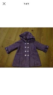 Girl's Purple Coat. From George. Aged 18-24 Months