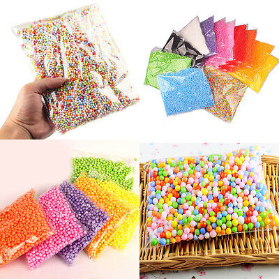 Multi Assorted Colors Polystyrene Styrofoam Filler Foam Mini Beads Balls Crafts