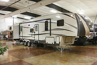 New 2016 36QBOK-7 5th Fifth Wheel Bunkhouse Travel Trailer with Outdoor Kitchen