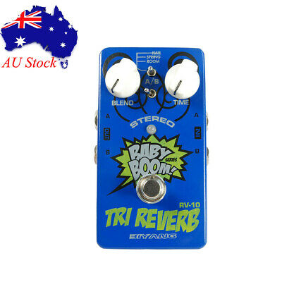 Biyang Babyboom RV10 Tri-Reverb Stereo Reverb Pedal Effect For Guitar & Bass