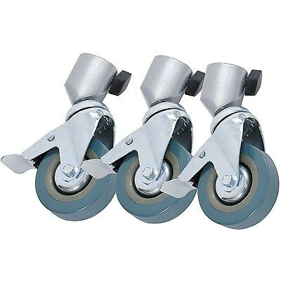 Photography Studio Lockable Swivel Castors with 75mm Wheels. For Light Stands...