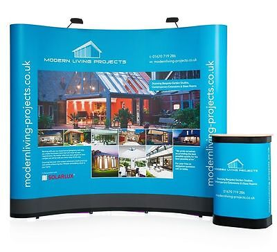 3x3 Curved Pop Up Exhibition Stand With Hardcase