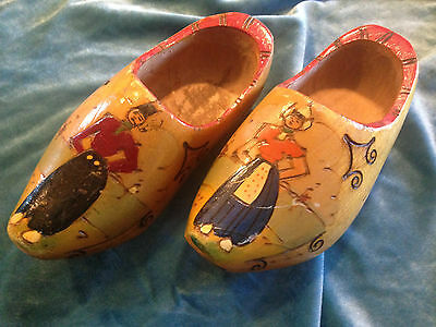 Vintage Dutch hand Wall Decor -Made in Holland  wooden clogs