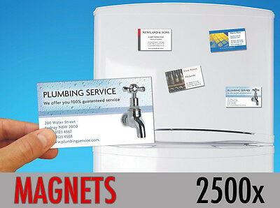 2500 Custom Printed Fridge Magnet Business Card Magnets Promotional ONLY 31p