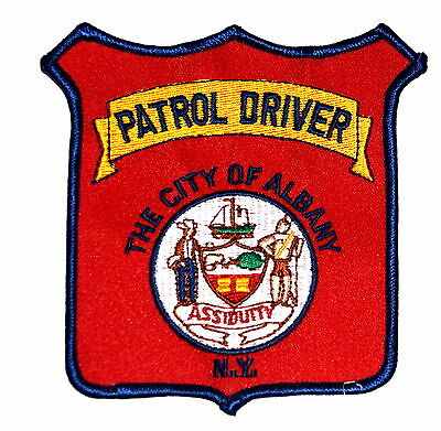 ALBANY- PATROL DRIVER -  NEW YORK NY Police Sheriff Patch CITY SEAL SAILING SHIP