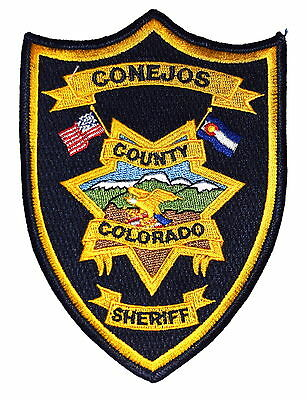 CONEJOS COUNTY COLORADO CO Police Sheriff Patch MOUNTAINS SNOW FLYING EAGLE ~