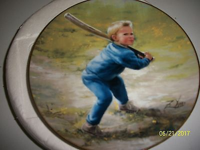 """Danbury Mint Collector Plate: Wonders Of Youth """"little Slugger"""""""