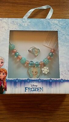 Frozen Elsa necklace and ring set