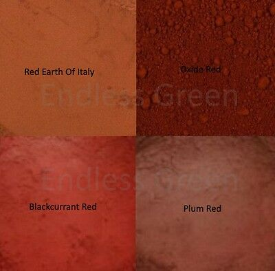 Red Earth Pigment Powder - Mix With Varnish Wood Oil & Resin etc. - 1 x 20g Bag