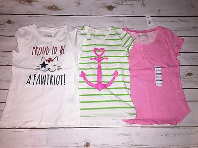 EUC Girls Circo Faded Glory Old Navy Mixed Shirt Lot Size 6 Short Sleeve