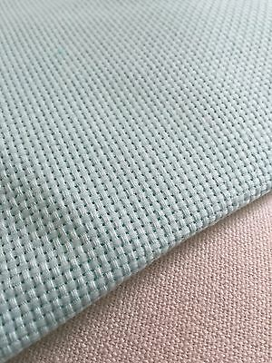 Aida Light Green 14 Count Cross Stitch Cloth Fabric/Canvas- 100% Cotton
