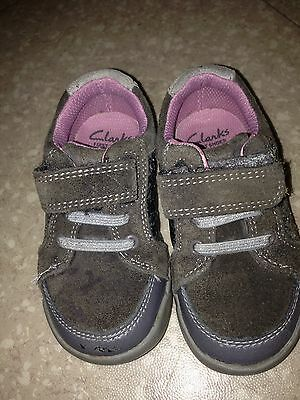 Clarks Baby Girls First Shoes Size Uk 5.5F