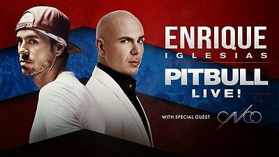 Enrique Iglesias & Pitbull Floor tickets at Toronto ACC on July 6th-17