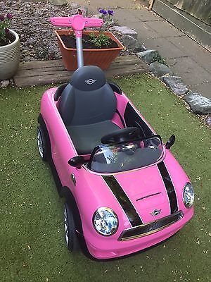 Pink Mini Cooper / Push Buggy Car Ride On / BR1