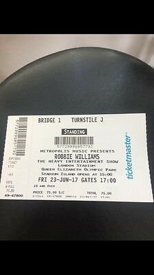 robbie williams tickets x3 London Friday 23rd June