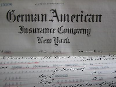 1919 Canadian Insurance Policy German American Furniture Moncton Canada