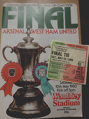 Football Programme Arsenal V West Ham 1980 Fa Cup Final
