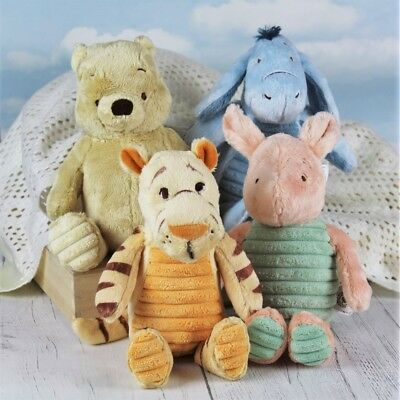 Winnie the Pooh, Tigger, Eeyore and Piglet Plush Toys (M)